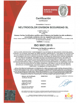 CERTIFICADO ISO 9001:2015 – ND SEGURIDAD