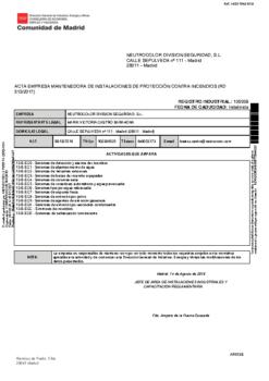 MANTENEDORA INSTALACIONES CONTRA INCENDIOS