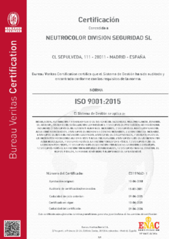 CERTIFICADO ISO 9001:2015 – ND SEGURIDAD